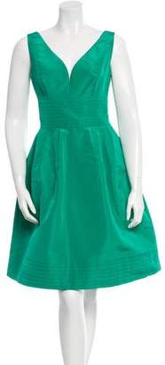 Oscar de la Renta Silk Cutout Dress