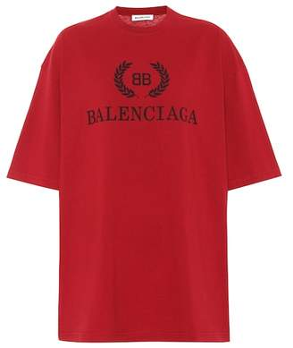 Balenciaga Printed cotton T-shirt
