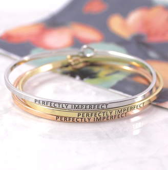 Perfectly Imperfect Lucy Loves Neko Engraved Stacking Cuff Bangle