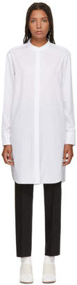 Jil Sander Navy White Long Poplin Shirt