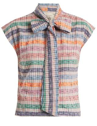Ace&Jig Page neck-tie cotton top