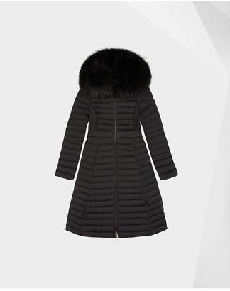 Hunter Womens Refined Down Coat With Faux Fur Hood