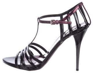 Miu Miu Patent Leather T-Strap Sandals