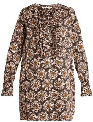 Blend of America La DoubleJ La Doublej - The Tuxedo Cotton Mini Dress - Womens - Brown Multi