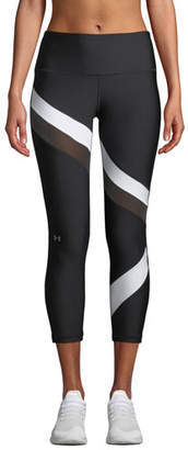 Under Armour HeatGear® Striped Cropped Performance Leggings