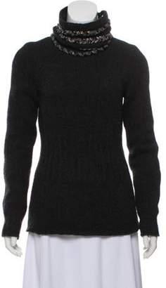 Chanel Beaded Detachable Collar Sweater Beaded Detachable Collar Sweater