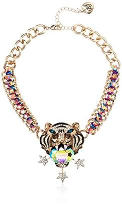 Betsey Johnson Mystic Baroque Queens Gold Tiger Statement Pendant Necklace
