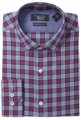 Original Penguin Blue Check Slim Fit Dress Shirt
