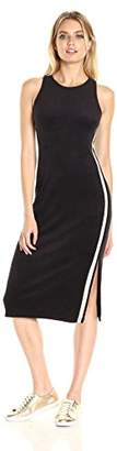 Juicy Couture Black Label Women's Microterry Tank Dress with Racer Stripe