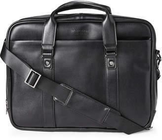 Kenneth Cole Black Brain-Case RFID Messenger Bag