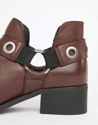 Park Lane Wide Leather Ankle Boots