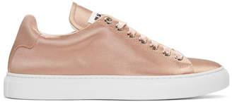 Jil Sander Pink Satin Sneakers