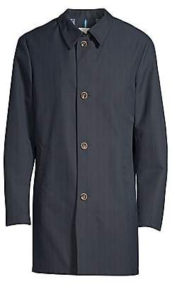 Bugatti Men's Modern Fit Plaid Raincoat