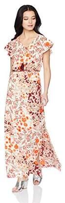 Adrianna Papell Women's Petite Capsleeve Maxi Dress