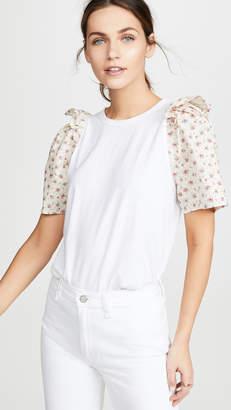 Clu Flower Print Sleeve Top