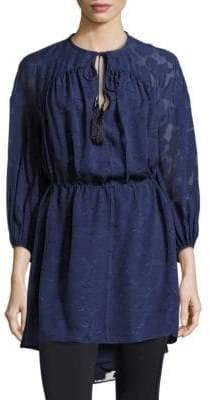 Derek Lam 10 Crosby Lace Sleeved Front Tie Dress