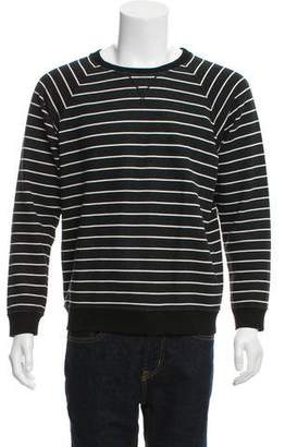 Saint Laurent Striped Crew Neck Sweatshirt