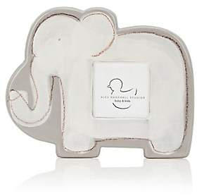 "Alex Marshall Studios Ceramic Elephant 3"" x 3"" Picture Frame-Gray"