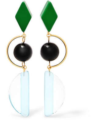 brass marni luisviaroma earrings semaine colored coloured clip shop gold circle large