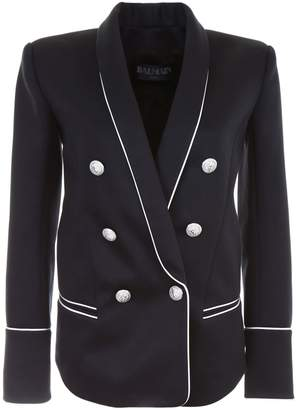 Balmain Double-breasted Blazer With Piping
