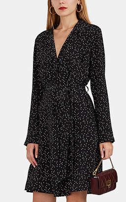 L'Agence Women's Stephania Polka Dot Silk Belted Shirtdress