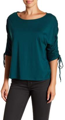 14th & Union Gathered Sleeve Boatneck Tee (Petite Sizes Available)