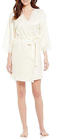 Lauren Ralph LaurenLauren Ralph Lauren Signature Collection Satin Wrap Robe