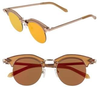 Karen Walker Buccaneer 47mm Round Sunglasses