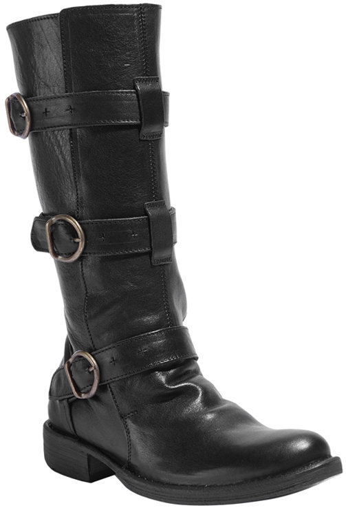 Fiorentini+Baker Black Boots Buckle Details