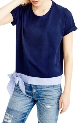 Women's J.crew Side Tie Tee $39.50 thestylecure.com