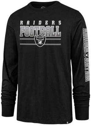 '47 Men's Oakland Raiders Level Up Long Sleeve Super Rival T-Shirt