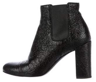 Saint Laurent Patent Square-Toe Boots