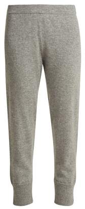 Allude Straight Leg Cashmere Track Pants - Womens - Grey