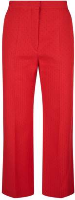 Sandro Wide Leg Printed Trousers