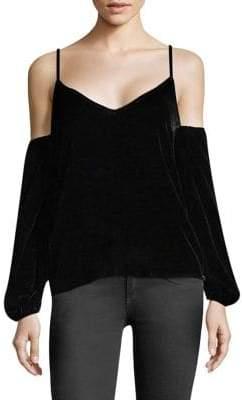 LPA Velvet Cold-Shoulder Top