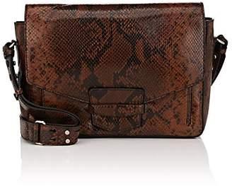 Dries Van Noten Women's Snake-Embossed Leather Messenger Bag