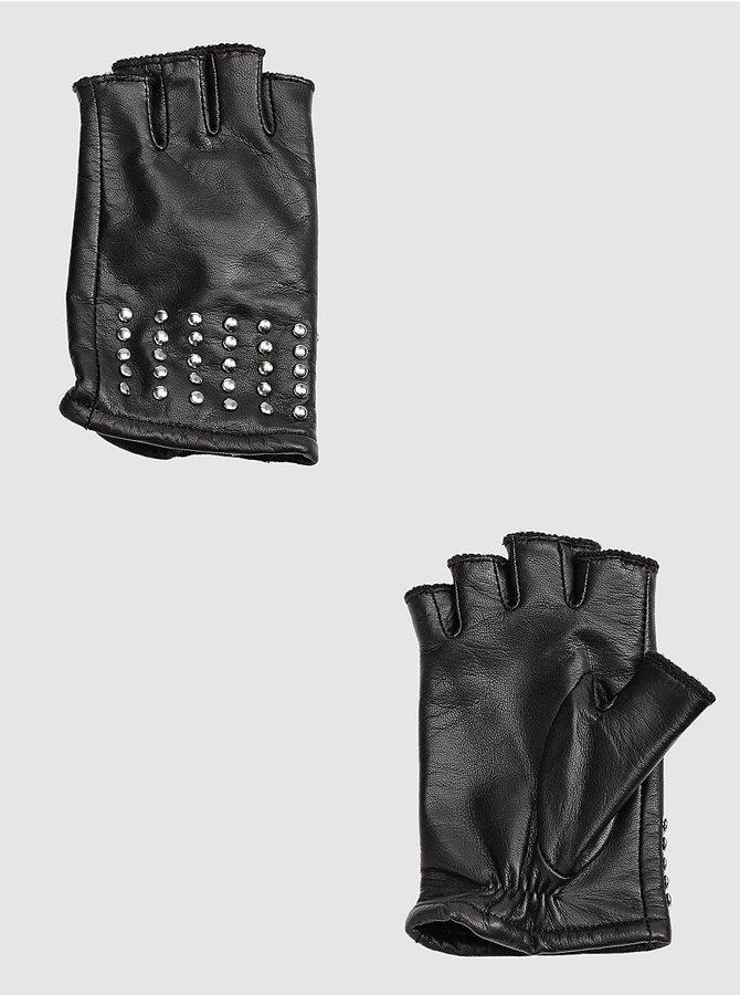 Kasi Fingerless Studded Glove