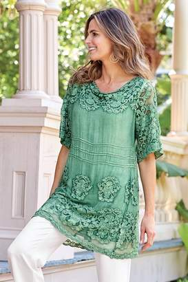 Soft Surroundings Silk Tessa Tunic