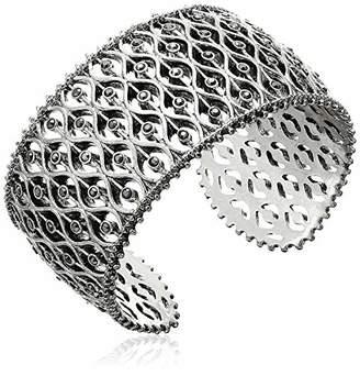 Lucky Brand Openwork Pave Cuff Bracelet