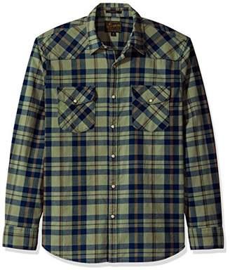 Lucky Brand Men's Santa Fe Western Shirt in Green Multi