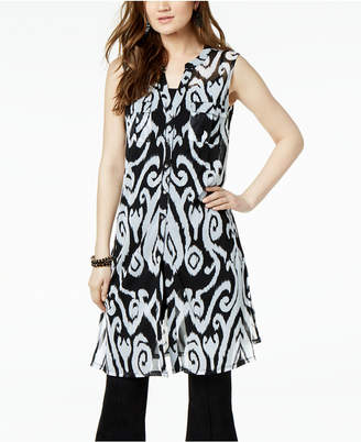 INC International Concepts I.n.c. Printed Tunic Shirt, Created for Macy's