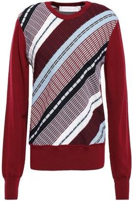 Victoria Beckham Jacquard-knit Wool Sweater