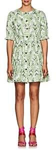 Saloni Women's Billie Fern-Print Cotton Dress-Green