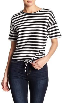 Vero Moda Nia Striped Tie Front Tee
