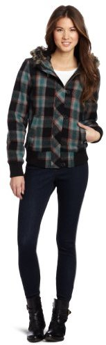 Fox Womens Juniors Back Country Plaid Coat