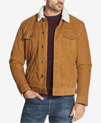 Weatherproof Vintage Men Corduroy Fleece-Lined Trucker Jacket