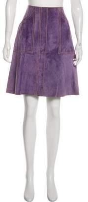 Derek Lam Suede Knee-Length Skirt