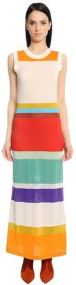 Missoni Striped Wool Blend Midi Dress