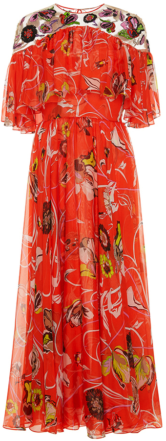 Emilio Pucci Embroidered Long Dress