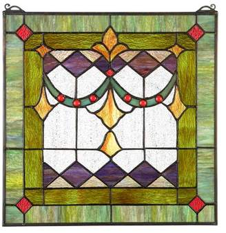 Toscano Design Victorian Swag Tiffany-Style Stained Glass Window